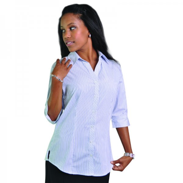Duchess Donna Blouse - 3/4 Sleeve (Stripe Design 8) 1