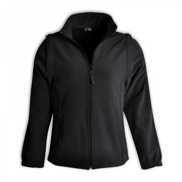 Global Citizen Ladies Zip Off Sleeve Soft Shell Jacket 2