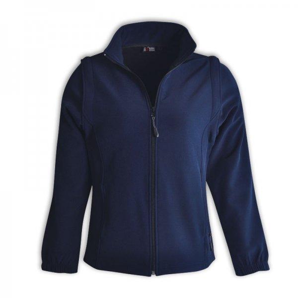 Global Citizen Ladies Zip Off Sleeve Soft Shell Jacket 3