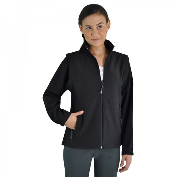 Global Citizen Ladies Zip Off Sleeve Soft Shell Jacket 1