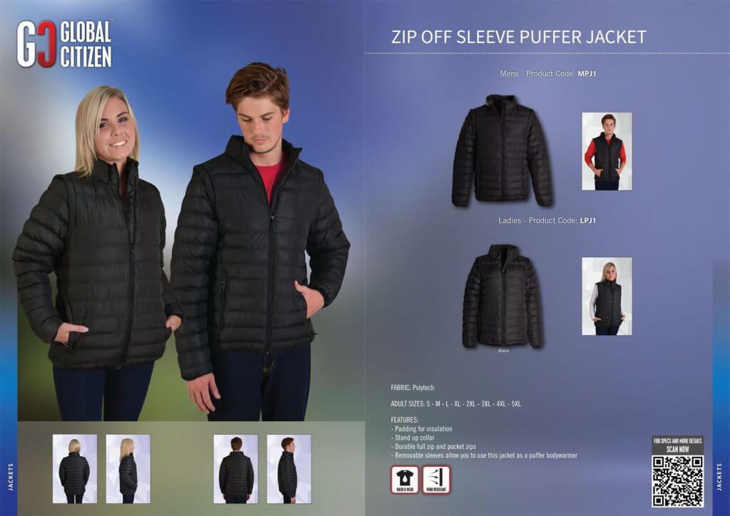 Global Citizen Mens Zip Off Puffer Jacket 6