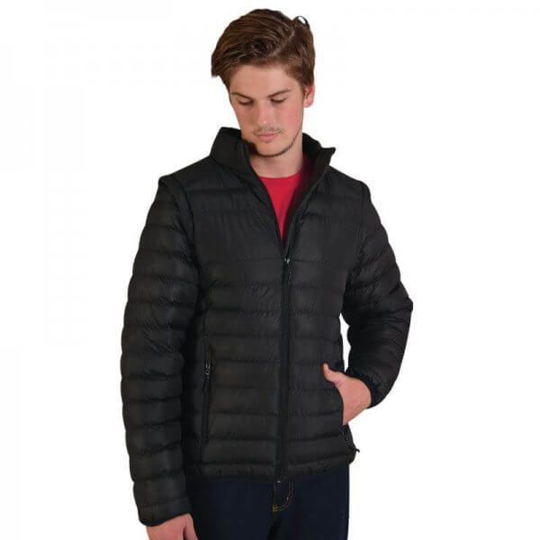 Global Citizen Mens Zip Off Puffer Jacket 1