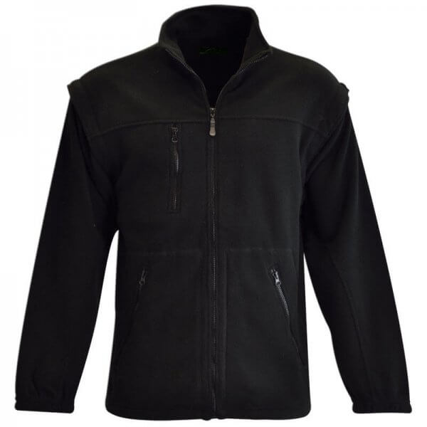 Highland Brook Mens Zip Off Polar Fleece 2