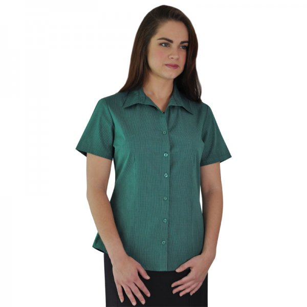 Duchess Roselina Blouse - Short Sleeve (Check Design 1) 1