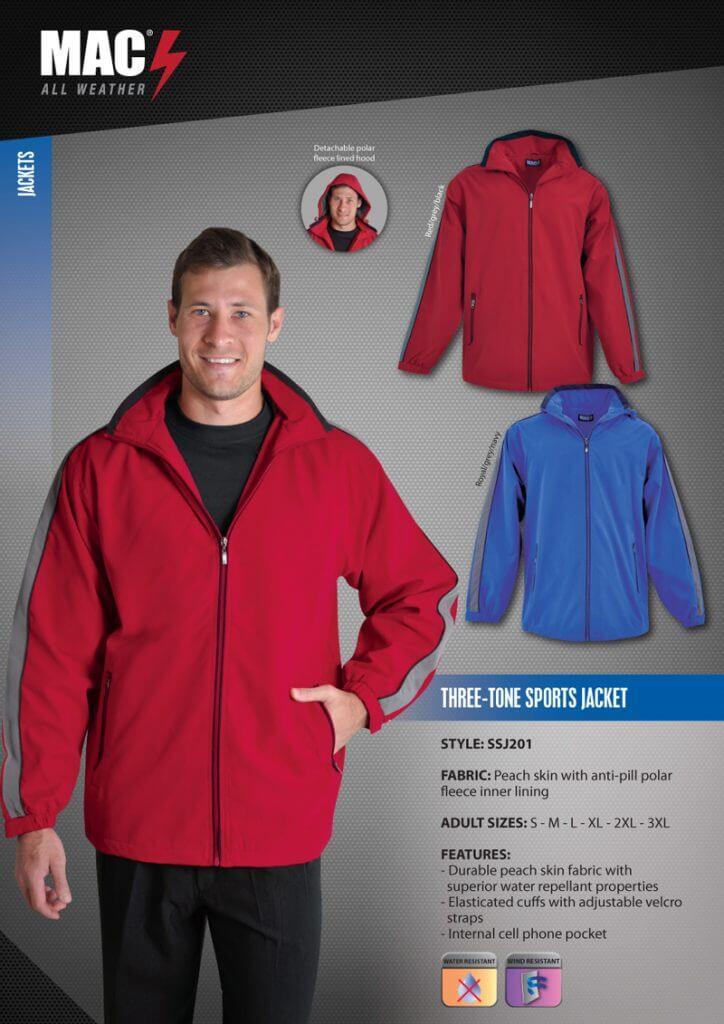 SSJ201 MAC 3 Tone Sports Jacket