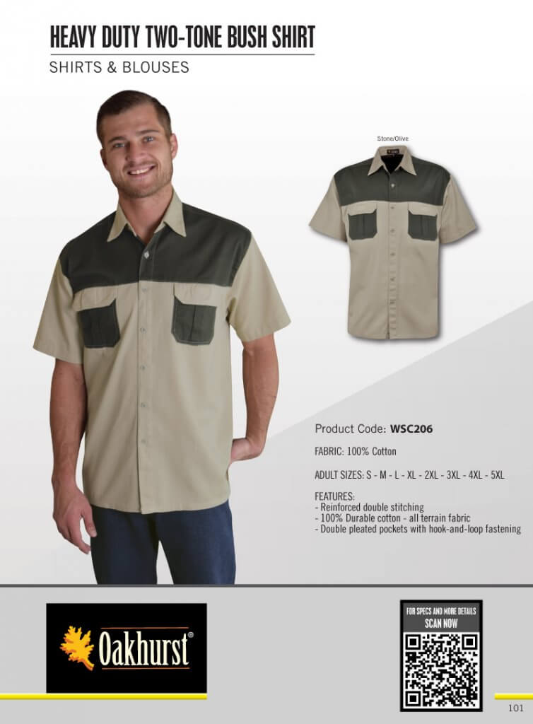 Oakhurst Heavy Duty Two-Tone Bush Shirt 4