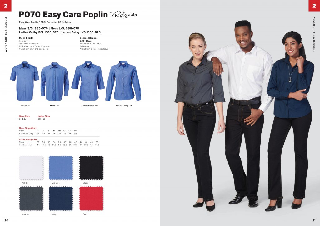 Rolando Poplin Mens Long Sleeve Shirt 9